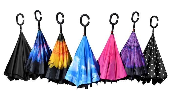 Up To 13 Off On Calla Reverse Folding Umbrella Groupon
