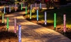 Set of Two or Four Solar-Powered Acrylic Bubble Garden Lights