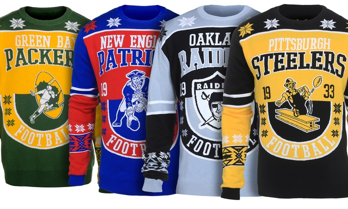 innovative design 8e2a8 d3314 NFL Unisex Retro Logo Ugly Sweater | Groupon
