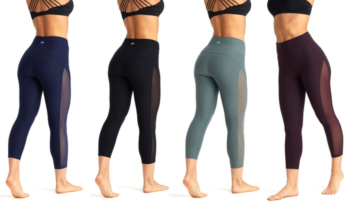 60% off Marika Women's High-Waist Mesh-Side Leggings