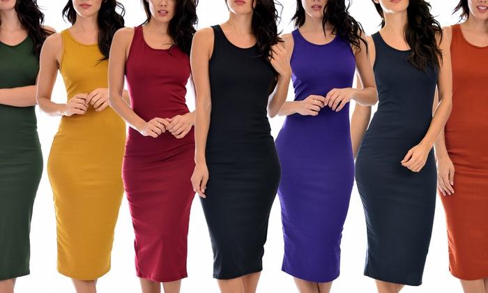 Lyss Loo Body-Con Midi Dress: Lyss Loo Body-Con Midi Dress