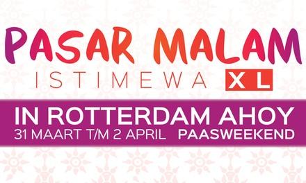 Ticket voor Pasar Malam Istimewa XL tijdens het Paasweekend in Rotterdam Ahoy