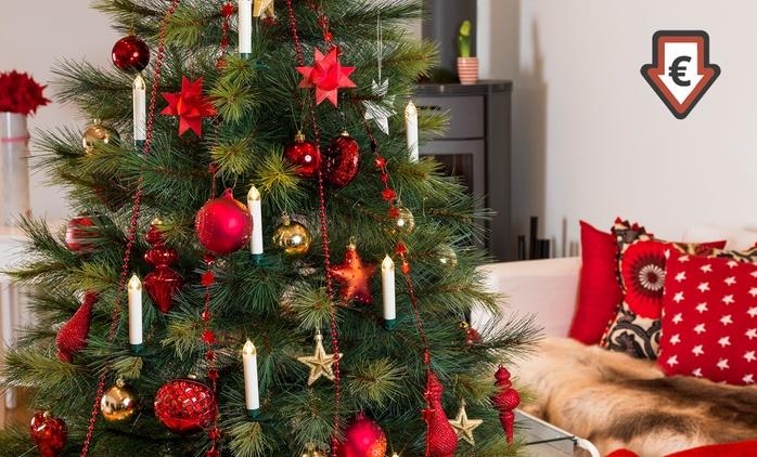 Konstsmide kabelloses LED-Weihnachtsbaumbeleuchtungs-Set inkl. Batterien und Fernbedienung