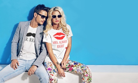 Pack de un par de camisetas estampadas para parejas