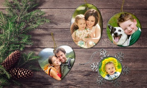 Customizable Ceramic Or Pewter Ornament From Picture It On Canvas For $9.99 Or $11.99
