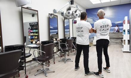 Sesión de peluquería completa con opción a tinte y mechas en Trazos Peluqueros (hasta un 77% de descuento)