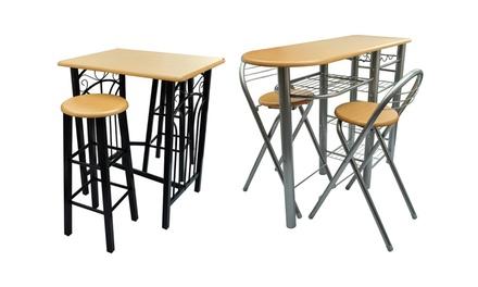 jusqu 39 15 table de bar tabourets chaises groupon. Black Bedroom Furniture Sets. Home Design Ideas