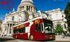 Big Bus Child Ticket: £21.75, Adult Ticket: £29.25