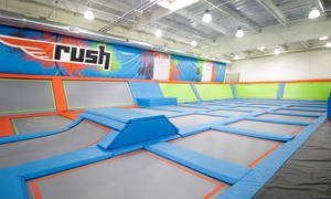 Up to 40% Off Jump Passes or Party Package at Rush Air Sports at Rush Air Sports, plus 6.0% Cash Back from Ebates.