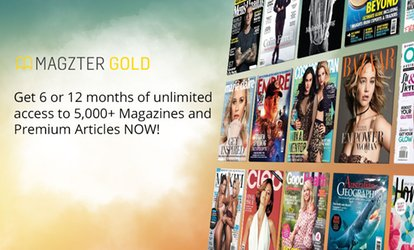 image for 6 Months ($19.99) or 12 Months of Unlimited Online Magazines ($29.99) from Magzter (Up to $99 Value)