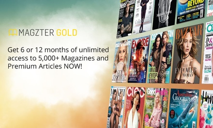 6 Months ($19.99) or 12 Months of Unlimited Online Magazines ($29.99) from Magzter (Up to $99 Value)