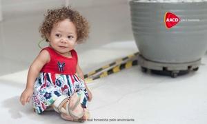 AACD – Associação de Assistência à Criança Deficiente: Doe de R$ 5 a R$ 50 e para doações de R$ 70 a R$ 180, receba os bonecos Tonzinho, Hebinha ou Nina
