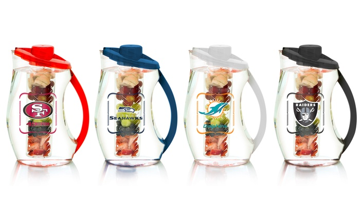 NFL Acrylic Infuser Pitcher with Color Handle and Cover