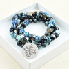 Genuine Agate Inspirational 2-in-1 Bracelet and Necklace by Pink Box