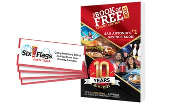 79% Off Book of Free Savings Book with Theme Park Tickets