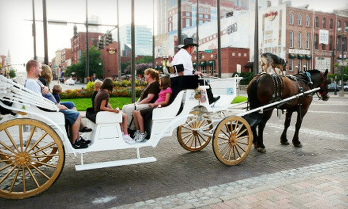 Sugar Creek Carriages - Nashville: Private Downtown Carriage Ride for 8 or 16 from Sugar Creek Carriages (52% Off)