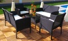 Groupon Goods Global GmbH: Rattan-Effect Four- or Six-Seater Garden Lounge Set