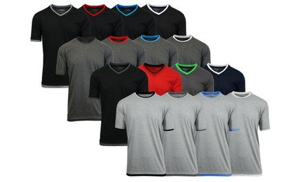 Men's Double Layer Crew or V-Neck Tees (4-Pack)