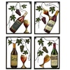 Urban Designs Vine/Wine Bottle Metal Wall Decor Pieces (Set of 4)