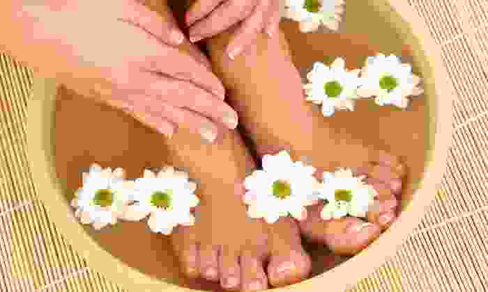 Christie Pea Nail Spa & Beautique - Sunset: $20 for The Dutchess Mani-Pedi at Christie Pea Nail Spa & Beautique ($40 Value)