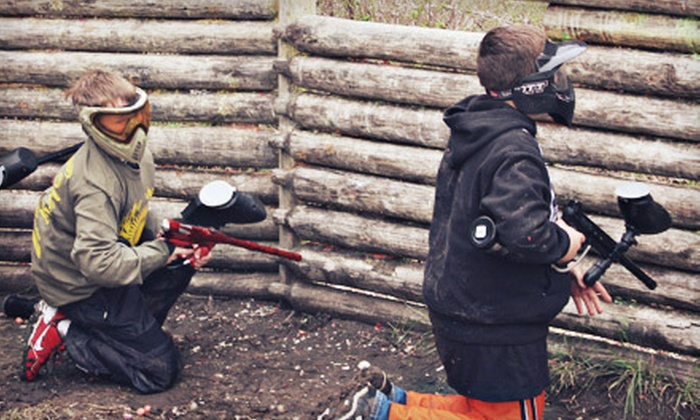 Frog Holler Paintball - Park: Paintball Outing and Equipment Rental for One, Two, Three, or Four at The Edge Paintball Adventures (Up to 57% Off)