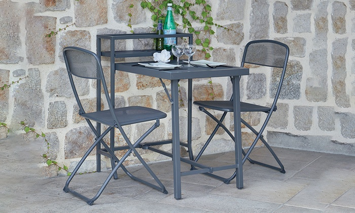 salon de jardin pliant rome groupon shopping. Black Bedroom Furniture Sets. Home Design Ideas