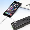 Aduro SURGE Strip Protector with 4 Outlets and 2 USB Ports