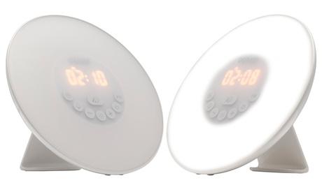 Reloj despertador con luz natural LED