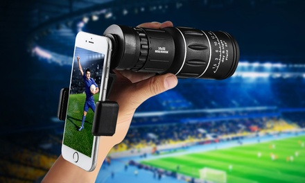 One or Two Universal Smartphone Telescopic Zoom Lenses with Mount