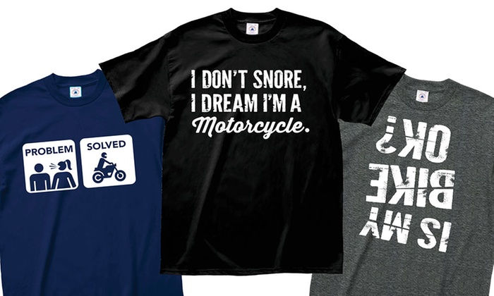 Men's Motorcycle Humor Tees