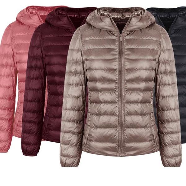 New women Celcius Missy size burgandy long  puffer hoodie jacket coat