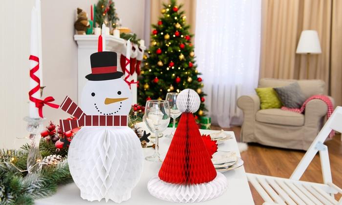 Decorazioni natalizie da tavolo groupon goods for Decorazioni da tavolo natalizie