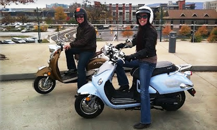 Chatt Town Scooters - chattanooga: Scooter Rental for One or Two from Chatt Town Scooters at Coolidge Park in Downtown Chattanooga (Up to 58% Off)