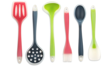 Homemaker Multi-Color Silicone Bake and Cook Kitchen Utensils (3- or 6-Piece)