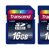 2-Pack of Transcend 16GB Class 10 SDHC Flash Memory Cards