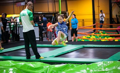 Two or Four 60-Minute Passes or Deluxe Party for Up to 10 People at Rockin' Jump - LC (Up to 34% Off)