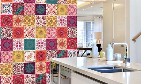 Set de 48 azulejos adhesivos con herramientas