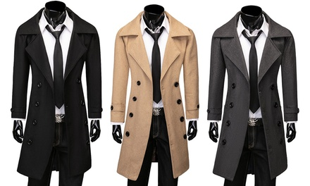 Men's Double Breasted Coat: One ($39.95) or Two ($75)