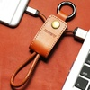 PU-Leather Keychain Lightning Cable