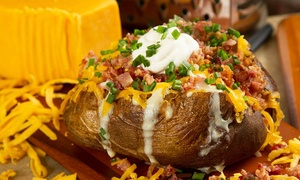 Brixton's at Station Park: Gourmet Baked Potatoes, Soups & Sandwiches at Brixton's at Station Park (Up to 52% Off). Two Options Available.