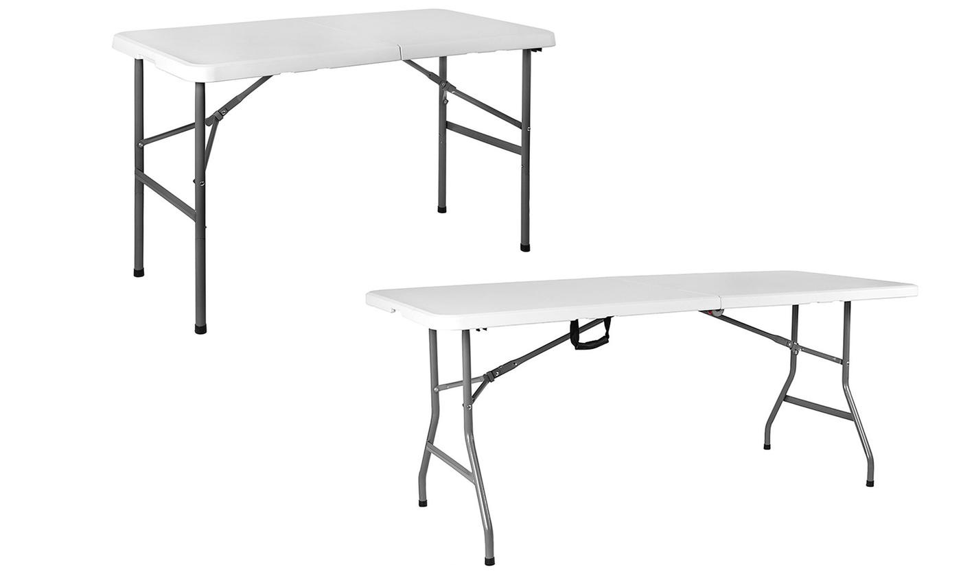 Home Vida White Folding Table in Choice of Size