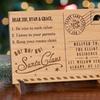 62% Off Santa's Magic Mail Wood Postcard