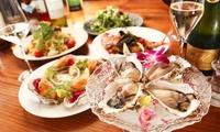 牡蠣好きの方のための贅沢な内容《豪華8品牡蠣づくしコース 1名分or 2名分 or 4名分》2枚まで利用可@シーフード酒場 牡蠣スター