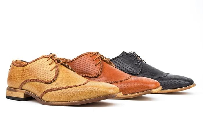 Royal Men's Brogue Wingtip Shoes