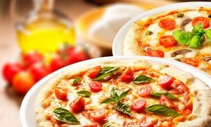 Menú de pizza para dos o cuatro personas con entrante, principal, postre y bebida desde 19,95 €