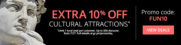 Extra 10% Off One Cultural Attraction Deal