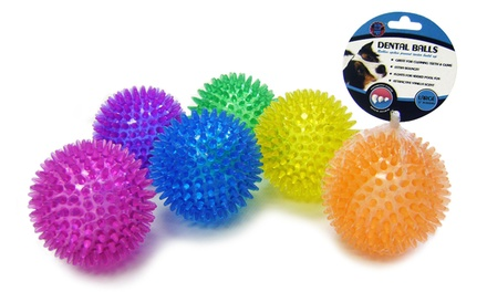 Bow Wow Pet Extra Large Bouncy Dental Balls (6-Pack)