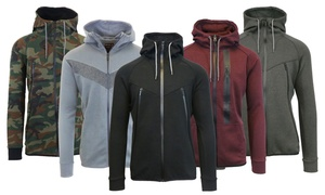 Men's Tech Zip Up Hooded Sweatshirt