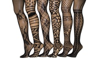 Patterned Fishnet Tights (6-Pack). Plus Sizes Available.