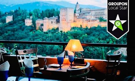 Menú andaluz o premium con entrante, principal, postre y bebida en El Balcón de San Nicolás